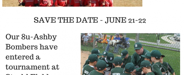 8u-Ashby Bombers – Save the Date – June 21-22